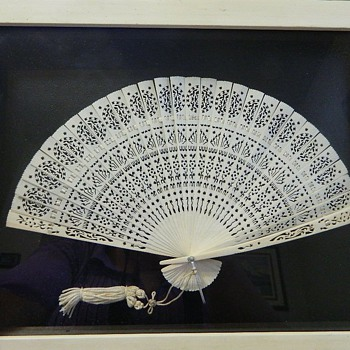 Japanese carved fan