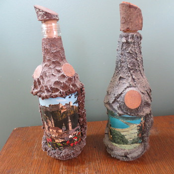wood maybe souvenoir bottles - Advertising