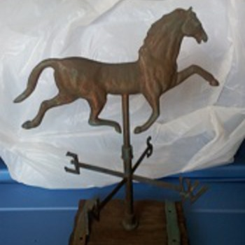 "antique 18"" high horse weathervane - Folk Art"