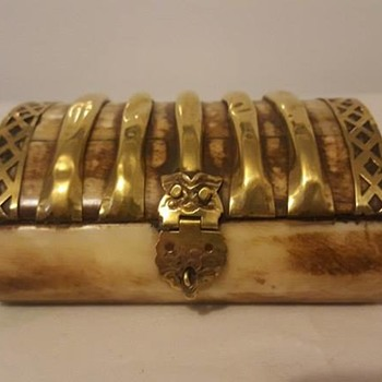 Brass African Trinket Box - Furniture