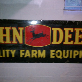 old sign under a roof.  3ft/9ft  need help any 1 now the year?????