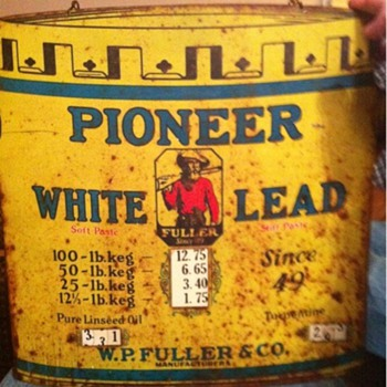 Pioneer white lead sign By W.P Fuller & co. - Signs