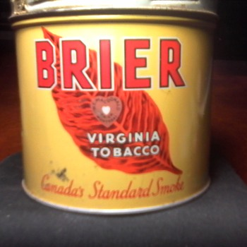 "W.C. Macdonald ""Brier"" Tobacco Tin - Tobacciana"