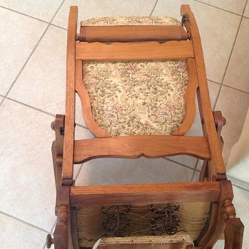 Wonderful old glider rocker chair