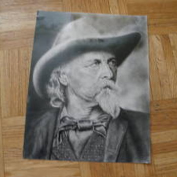 Detailed Wild Bill Hicthcock Drawing - Posters and Prints