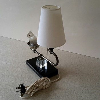 ART DECO Table Lamp with Glass Parrot Night Light PART 1/2