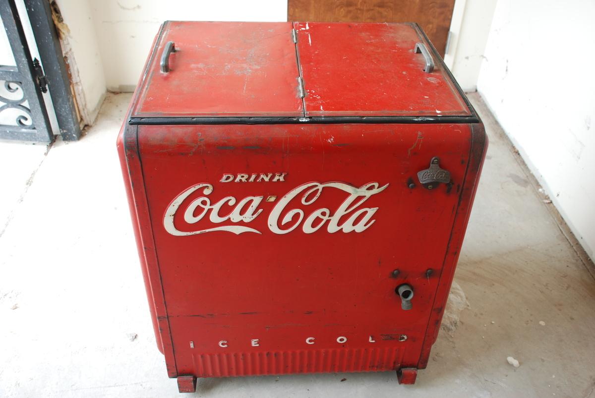 Vintage Coca Cola Cooler Keg Barrel Ice Chest Round Coke Soda  Old Coca Cola Coolers