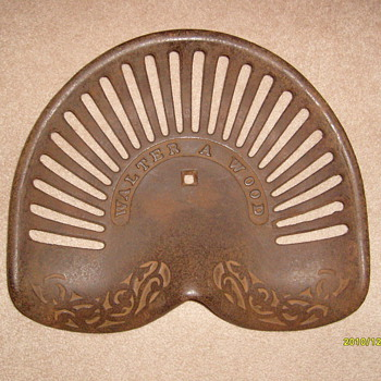 Old Cast Iron Tractor Seat...