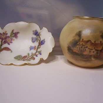 TWO ROYAL WORCHESTER PIECES
