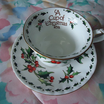 CUP OF CHRISTMAS TEA..BONE CHINA.