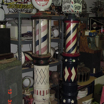 A few of my Barber Poles - Advertising