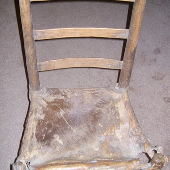 "Early 1800's ""Rawhide"" Chair ""Family Heirloom"""