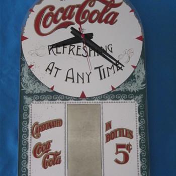 Coca Cola Mirror Clock 1976
