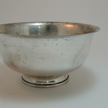 Fisher Sterling Silver Bowl - Paul Revere 1768 Reproduction - Sterling Silver
