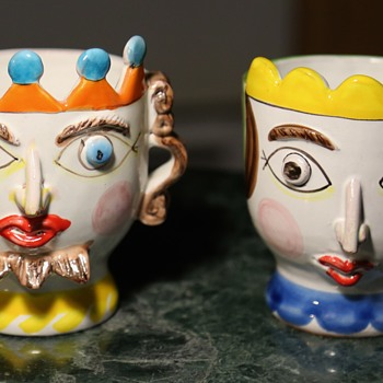 Desimone King and Queen - Art Pottery