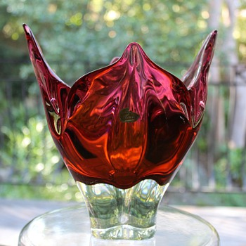 Chribska Czechoslavakia Vase - Art Glass