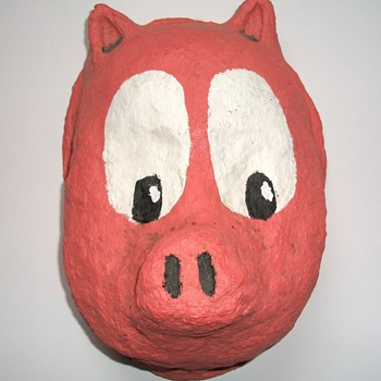 Porky Pig Folk Art Mask - Folk Art