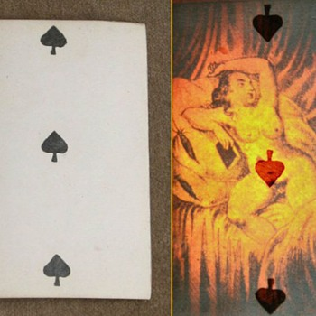 Secret playing card