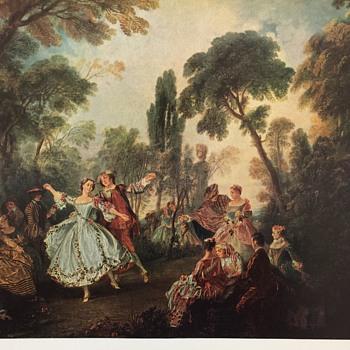 Lancret print titled La Camargo Dancing