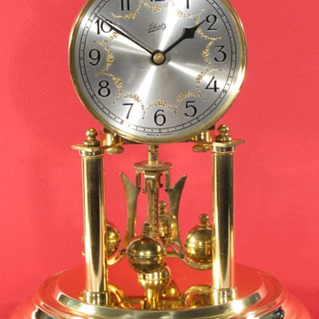 Schatz Standard 400 Day Clock, 1952, with Engraved, Silvered Dial.