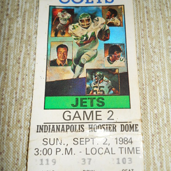 Indianapolis Colts v.s. The Jets - Football