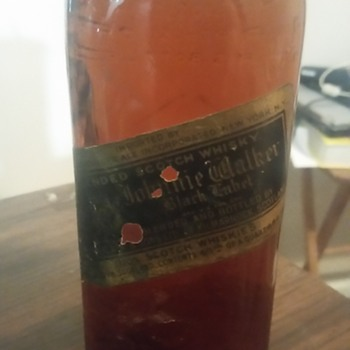old bottle of johnny walker