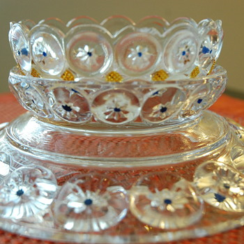 EAPG pickle dish Imperial Jeweled Moon & Star