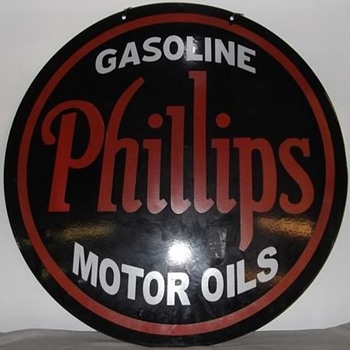 Phillip&#039;s sign from the 30s NOS mint sign - Petroliana