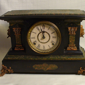 Seth Thomas Mantel Clock. Transitional design..Egyptian..Nouveau