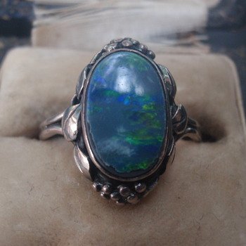 Arts & Crafts Opal Ring - Wager - Arts and Crafts