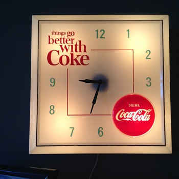 My 1960s coca cola light up clock
