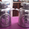 Solid Pewter Mickey Mouse and Donald Duck Milk Jug