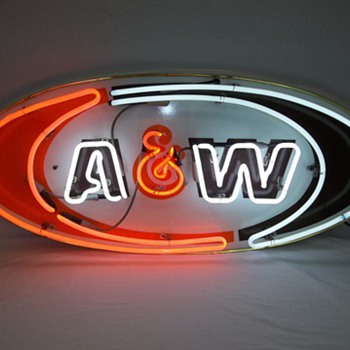 A & W Neon Sign