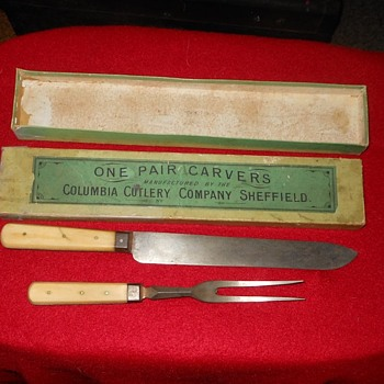 Marvill Regan Carving Set 1860s Plus Original Box