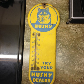 Husky Thermometer Sign - Signs
