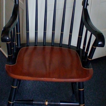 "Hitchcock ""Thomas Jefferson"" Chair ""Rebellion To Tyrants Is Obedience To God"" - Furniture"