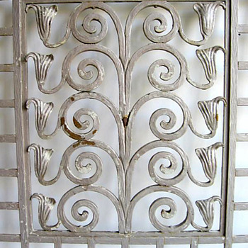 Wiener Secessionist Style Wrought Iron Window Grille - Art Nouveau