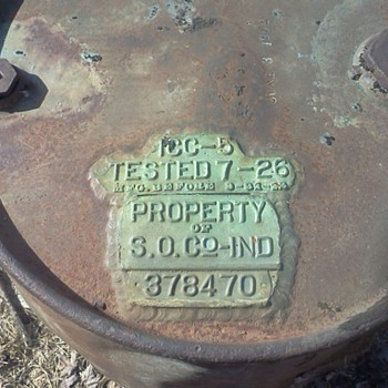 early 1900's Standard Oil Co. oil drum