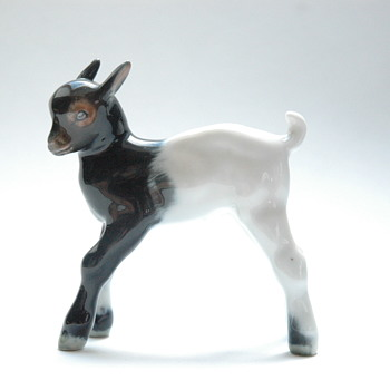 small art deco rosenthal porcelain goat figure. - Figurines