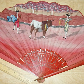 Antique Hand Fan - Accessories