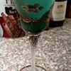 Bohemian Raised Flower Wine Goblet?
