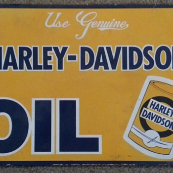Harley Davidson Oil Sign - Signs