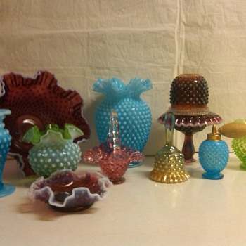 some of my favorite fenton hobnail items. - Glassware