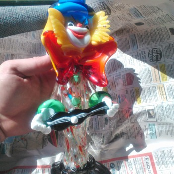 Murano Glass Clown!! - Art Glass