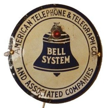 AT&amp;T Bell Systems Circle Porcelain Sign
