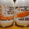 1/2 Gallon Alamito War Slogan Milk Bottles......