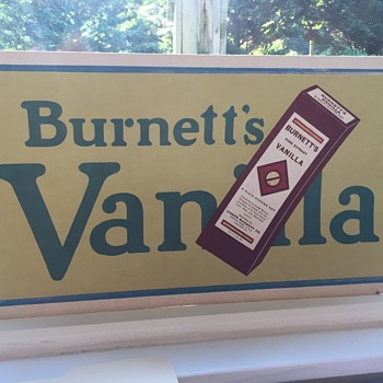 Burners Vanilla Extract Cardbord Sign  - Signs