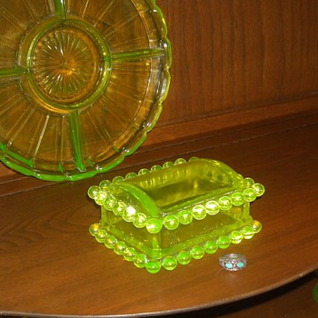 Vaseline Glass Boyd Cigarette Box