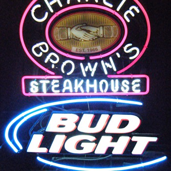 Charlie Brown's Steakhouse Signs