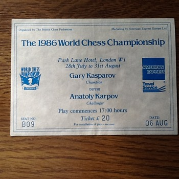 1986 World Chess Championship - Kasparov vs Karpov